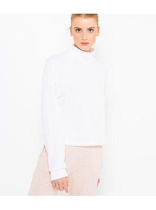 Bílý žebrovaný pyžamový svetr CAMAIEU