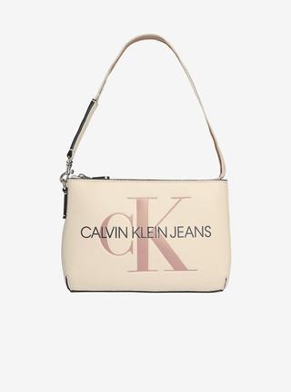 Krémová dámská kabelka Calvin Klein