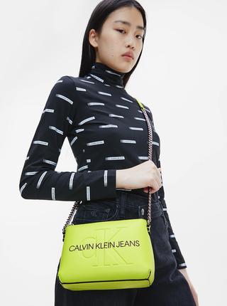 Neonově zelená crossbody kabelka Calvin Klein