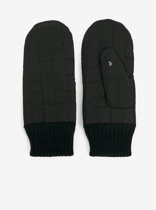 Černé dámské prošívané rukavice ICHI