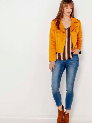 Oranžová semišová bunda CAMAIEU