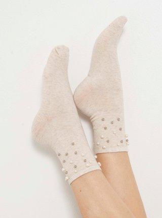 Ponožky pre ženy CAMAIEU - béžová