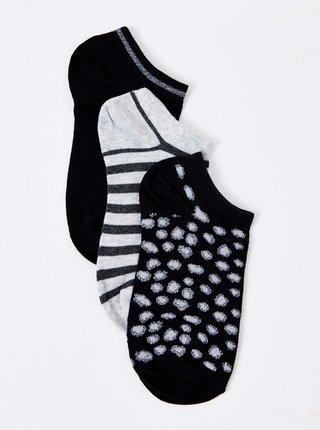 Ponožky pre ženy CAMAIEU - čierna, sivá