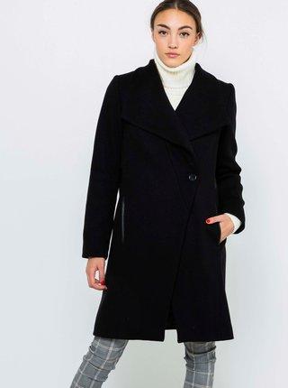 Černý vlněný kabát CAMAIEU