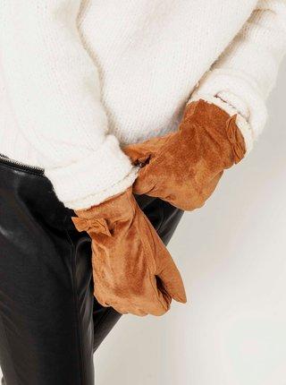 Rukavice pre ženy CAMAIEU - hnedá