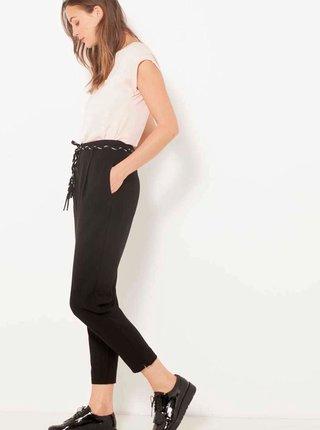 Černé zkrácené kalhoty CAMAIEU