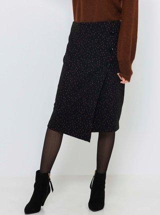 Černá vzorovaná zavinovací sukně CAMAIEU