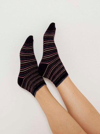 Čierne pruhované ponožky CAMAIEU