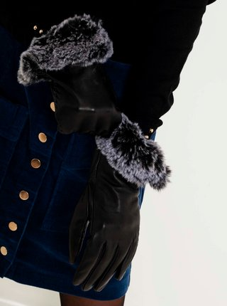Rukavice pre ženy CAMAIEU - čierna