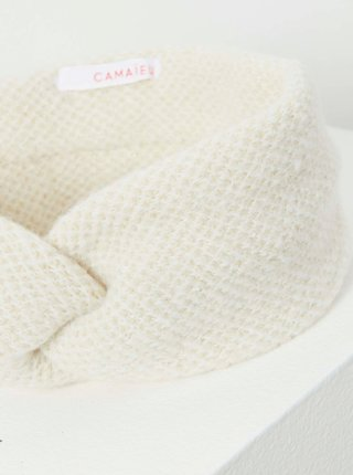 Krémová zimní čelenka CAMAIEU