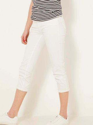 Bílé 3/4 slim fit kalhoty CAMAIEU