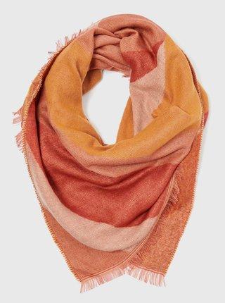 Šatky, šály pre ženy CAMAIEU - ružová, oranžová