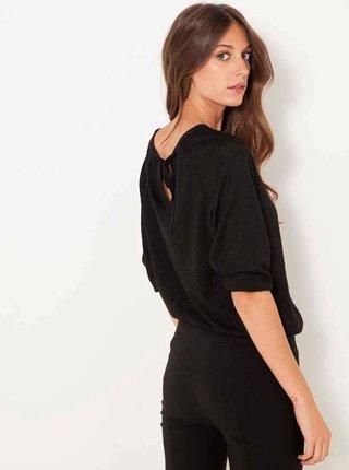 Černý svetr s průstřihy CAMAIEU
