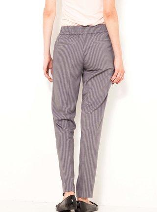 Šedé pruhované kalhoty CAMAIEU