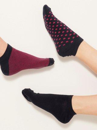 Ponožky pre ženy CAMAIEU - čierna, vínová