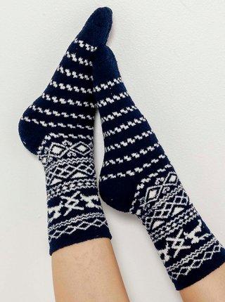 Bielo-čierne vzorované ponožky CAMAIEU