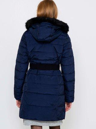 Tmavomodrý prešívaný kabát CAMAIEU
