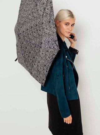 Černo-bílý deštník CAMAIEU