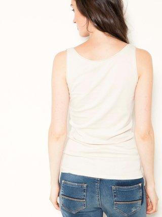 Topy a tričká pre ženy CAMAIEU - krémová