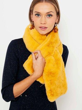 Žlutá šála s umělé kožešiny CAMAIEU