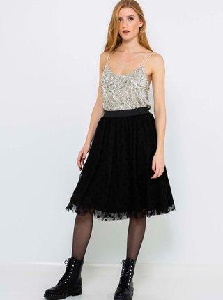 Černá puntíkovaná tylová sukně CAMAIEU