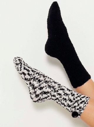 Sada dvou ponožek v černé a bílé barvě CAMAIEU