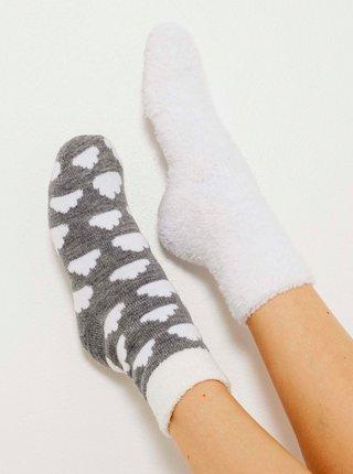 Sada dvou párů ponožek v šedé a bílé barvě CAMAIEU