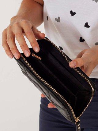 Černá prošívaná peněženka CAMAIEU