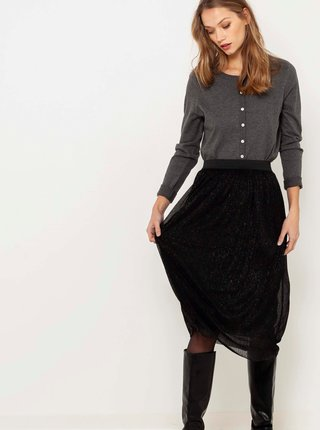 Černá třpytivá sukně CAMAIEU