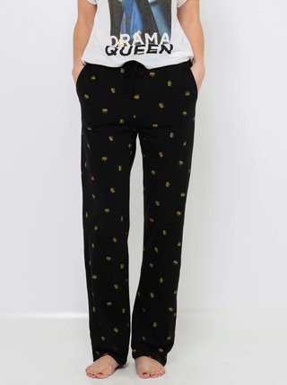 Černé vzorované pyžamové kalhoty CAMAIEU