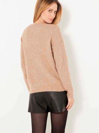 Béžový svetr s ozdobným detailem CAMAIEU