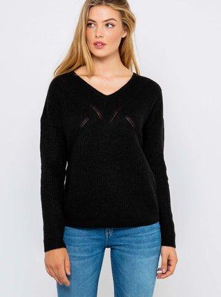 Černý lehký svetr CAMAIEU