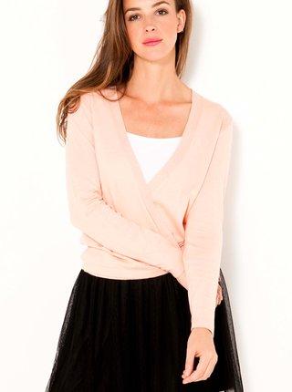 Svetloružový ľahký sveter CAMAIEU