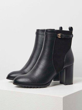 Čierne členkové topánky CAMAIEU