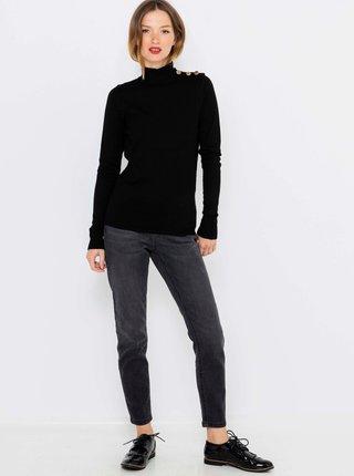 Čierny sveter so stojačikom CAMAIEU