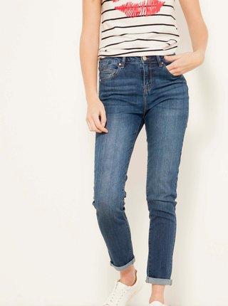Modré zkrácené skinny fit džíny CAMAIEU