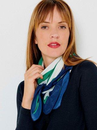 Šatky, šály pre ženy CAMAIEU - modrá, zelená, biela