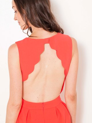 Spoločenské šaty pre ženy CAMAIEU - koralová