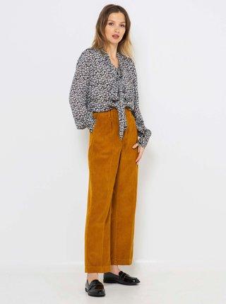 Hnědé široké kalhoty CAMAIEU