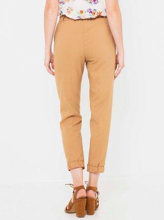 Světle hnědé zkrácené kalhoty CAMAIEU