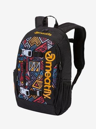 Černý vzorovaný batoh s penálem Meatfly Basejumper (22 l)
