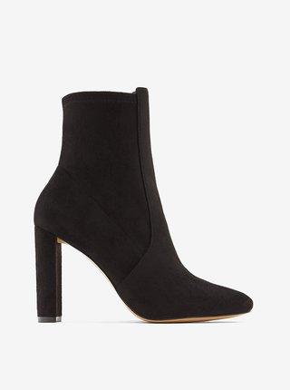 Černé dámské kotníkové boty v semišové úpravě ALDO Aurellane
