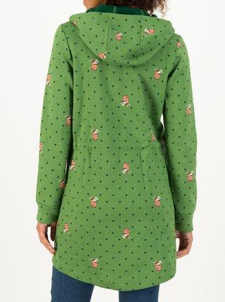 Zelená dámska bodkovaná dlhá mikina Blutsgeschwister English Garden