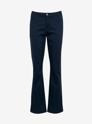 Tmavě modré flared fit kalhoty CAMAIEU