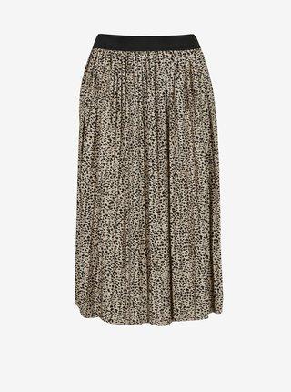 Čierno-krémová vzorovaná plisovaná sukňa Jacqueline de Yong Boa