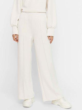 Krémové široké nohavice VERO MODA Silky