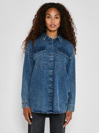 Modrá volná džínová košile Noisy May Flanny