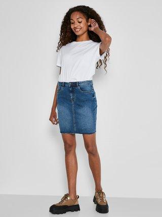 Modrá džínová pouzdrová mini sukně Noisy May Callie