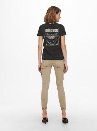 Čierne tričko s potlačou ONLY Lucy