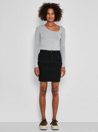 Černá džínová pouzdrová mini sukně Noisy May Callie